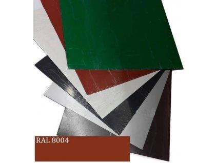 Rovinné plechy 0,5 tabule plechu 1,25 x 2 m RAL 8004 Blachotrapez