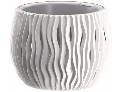 Plastové květináče Sandy Bowl bílá Ø 18 cm