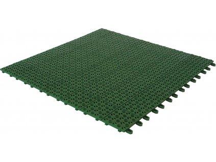 Plastová dlažba zelená 55 x 55 x 1 cm podlahová krytina Multiplate