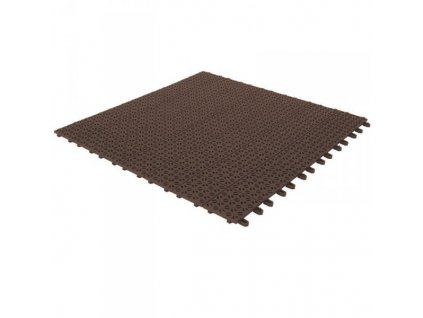 Plastová dlažba hnědá 55 x 55 x 1 cm podlahová krytina Multiplate