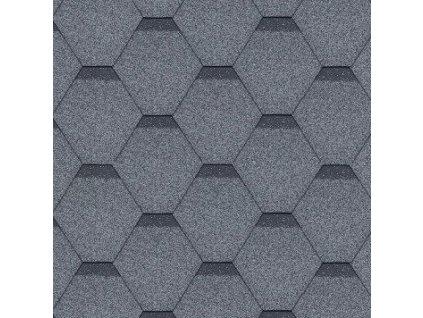 Asfaltový střešní šindel šedý ROCK HEXAGONAL