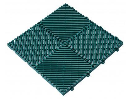 Plastová dlažba zelená 39,5 x 39,5 x 1,7 cm podlahová krytina Rombo.