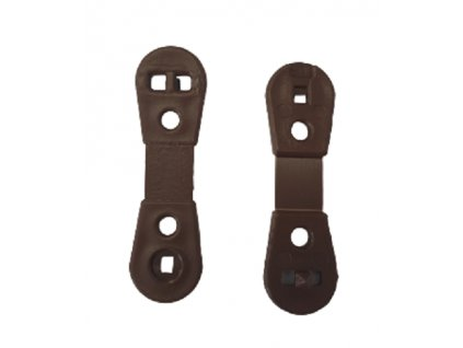 Úchyt na stínící tkaniny HNĚDÝ 3,3 cm kotvení CLIPS UV odolný