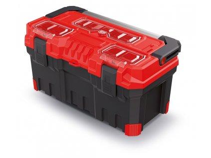 kufr na naradi s kov drzadlem titan plus cerveny 554x286x276