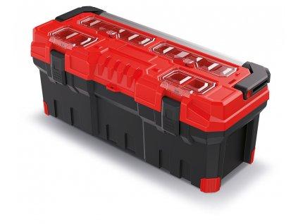 kufr na naradi s kov drzadlem titan plus cerveny 752x300x304