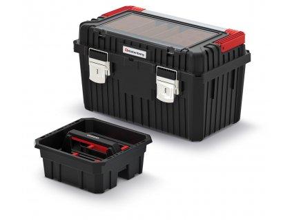 kufr na naradi s kov drzadlem a zamky heavy cerny 585x360x337