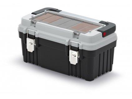 kufr na naradi s kov drzadlem a zamky optima sedy 470x256x238 krabicky