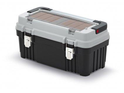 kufr na naradi s kov drzadlem a zamky optima sedy 540x278x269 krabicky