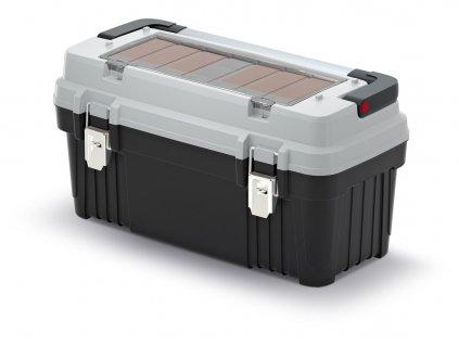kufr na naradi s kov drzadlem a zamky optima sedy 586x296x305 krabicky