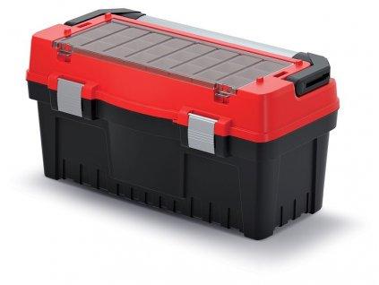 kufr na naradi s kov drzadlem a zamky evo cerveny 594x288x308 krabicky