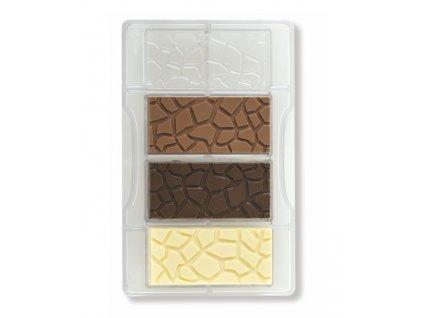 Forma polykarbonátová na čokoládové tabulky želva