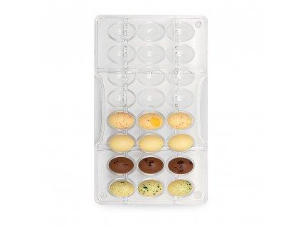 Forma polykarbonátová na čokoládové velikonoční vejce malé
