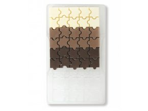Forma polykarbonátová na mini čokolády puzzle