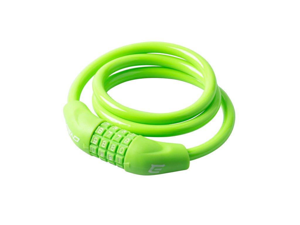 Zámok na bicykel Extend NUMERIC 4, 10*1000mm, lime green