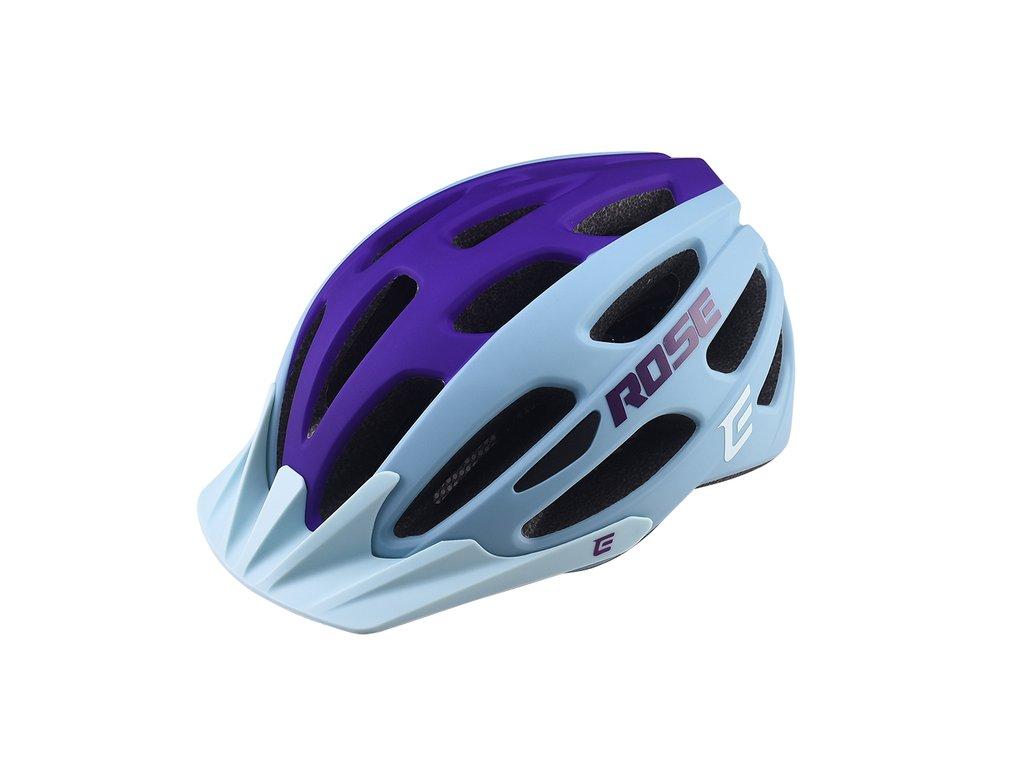 Cyklistická prilba Extend ROSE light blue-night violet, XS/S (52-55 cm) matt