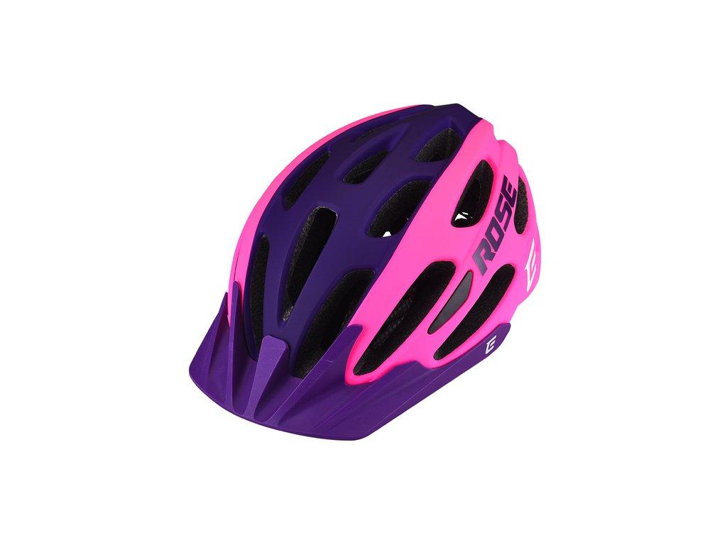 Cyklistická prilba Extend ROSE pink-night violet, XS/S (52-55 cm) matt