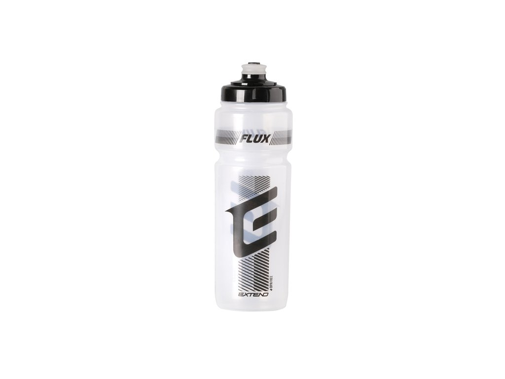 Fľaša Extend FLUX, 700 ml transparent white-black