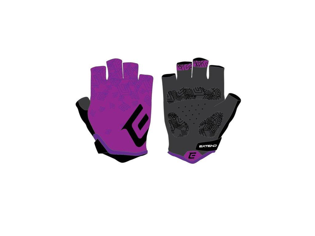 Rukavice dámske Extend SPIREA purple-black XXS