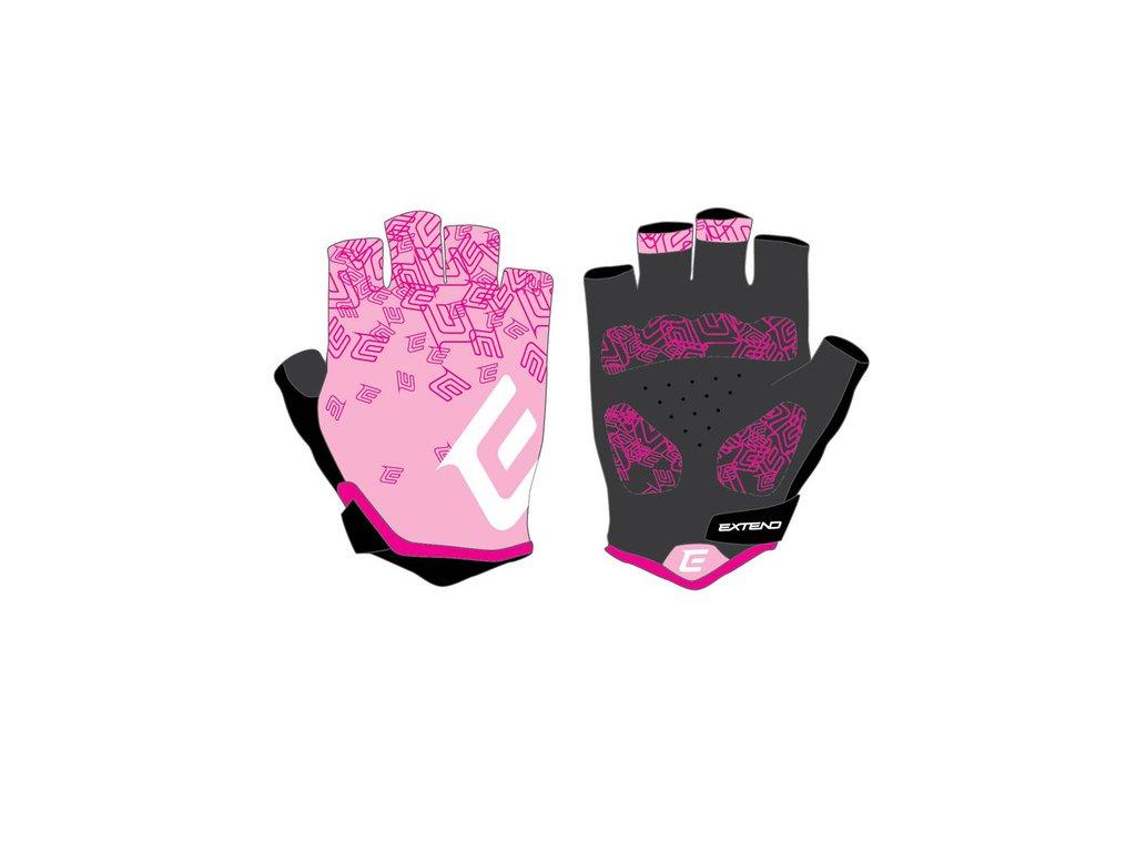 Rukavice dámske Extend SPIREA pink-white M