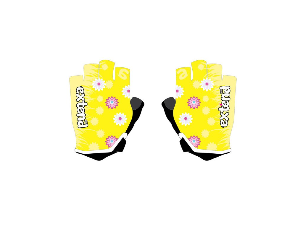 Rukavice detské Extend NUBBI žlté-kvety 4-6r.