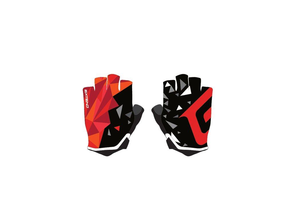 Rukavice detské Extend WEBBI červený-oranžový kryštál 6-8r.