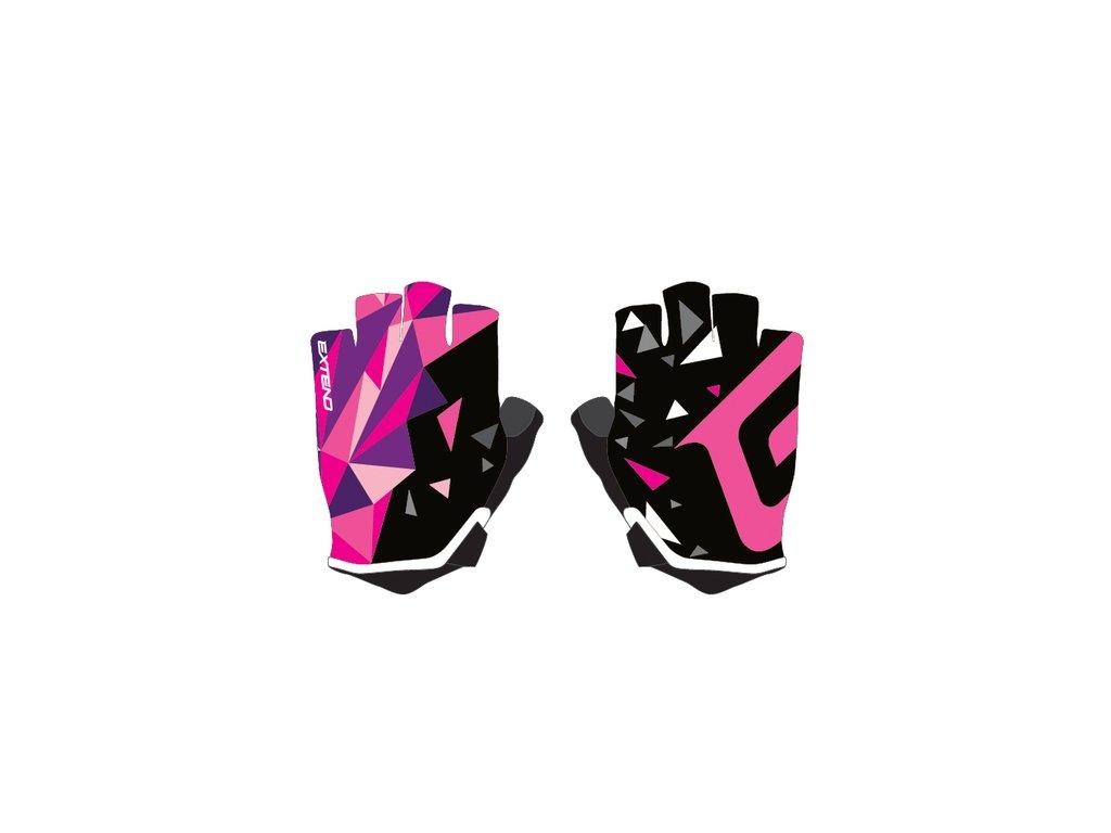 Rukavice detské Extend WEBBI ružovo-fialový kryštál 6-8r.