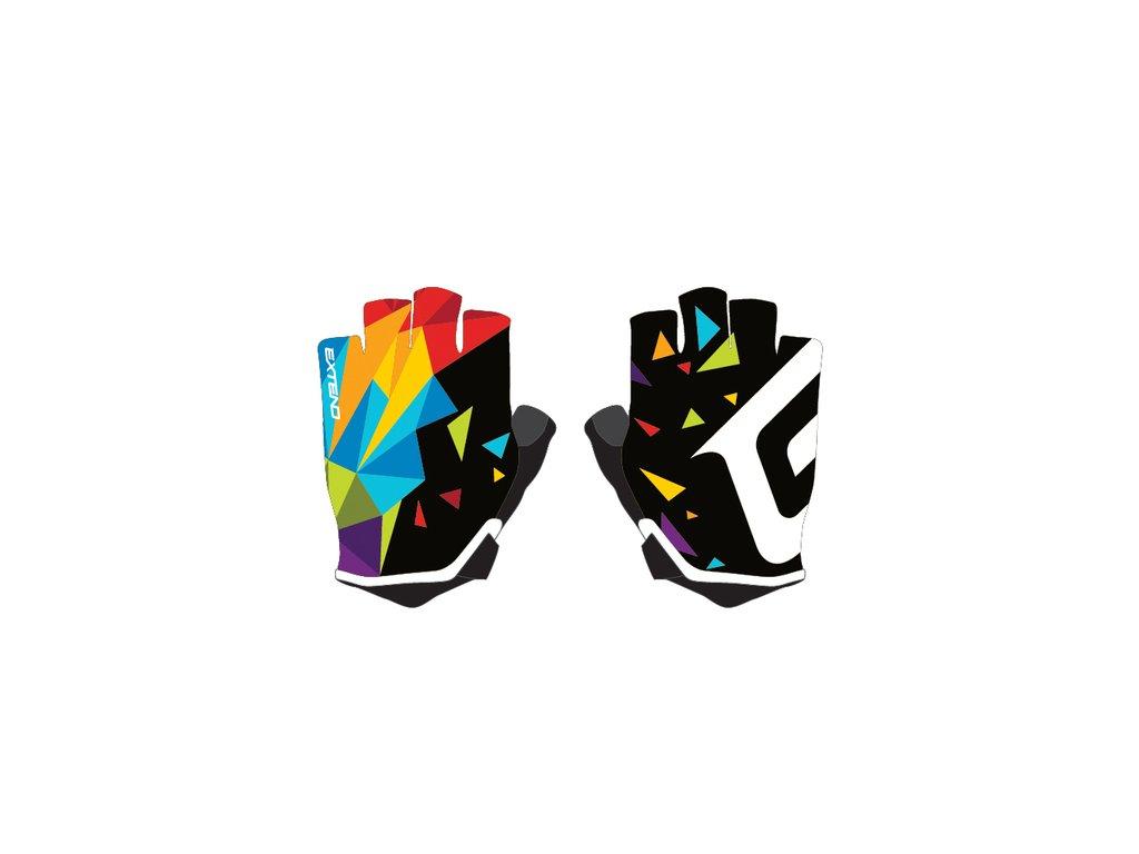 Rukavice detské Extend WEBBI farebný kryštál 8-10r.