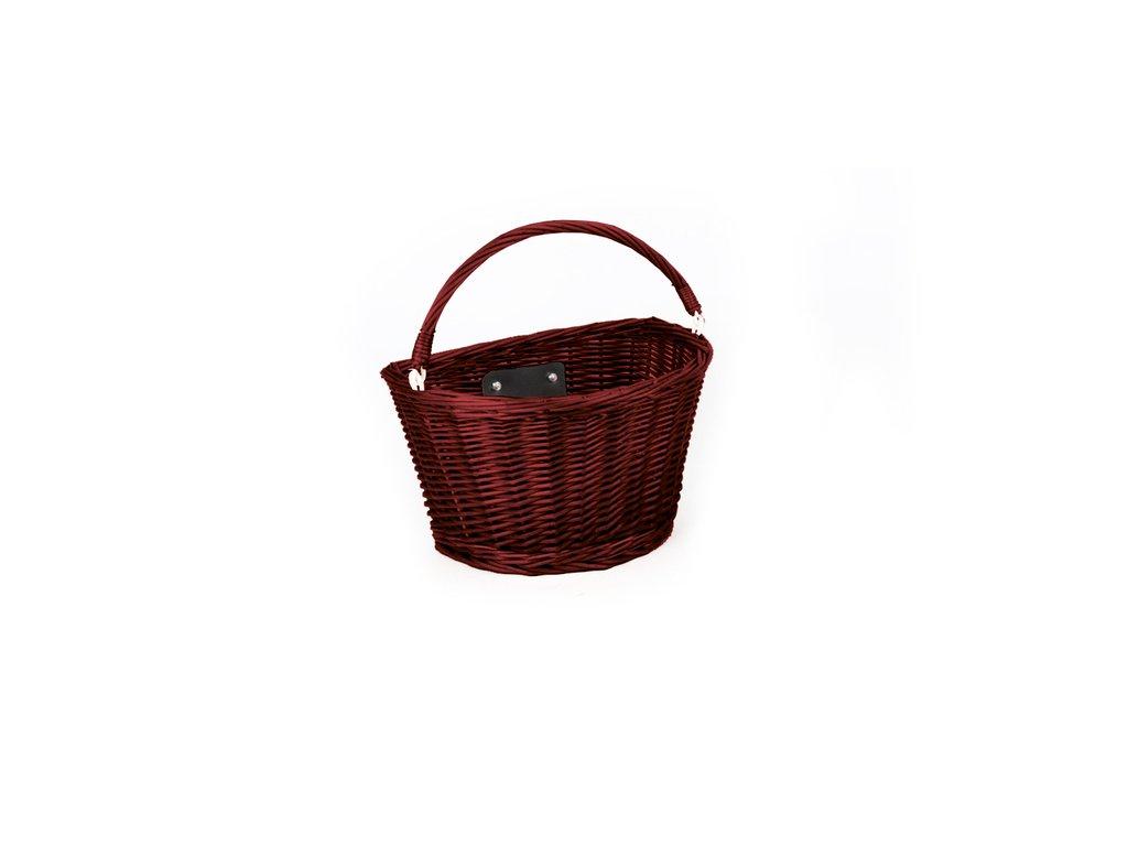 Košík na bicykel Extend CREDO, predný, QR, dark brown