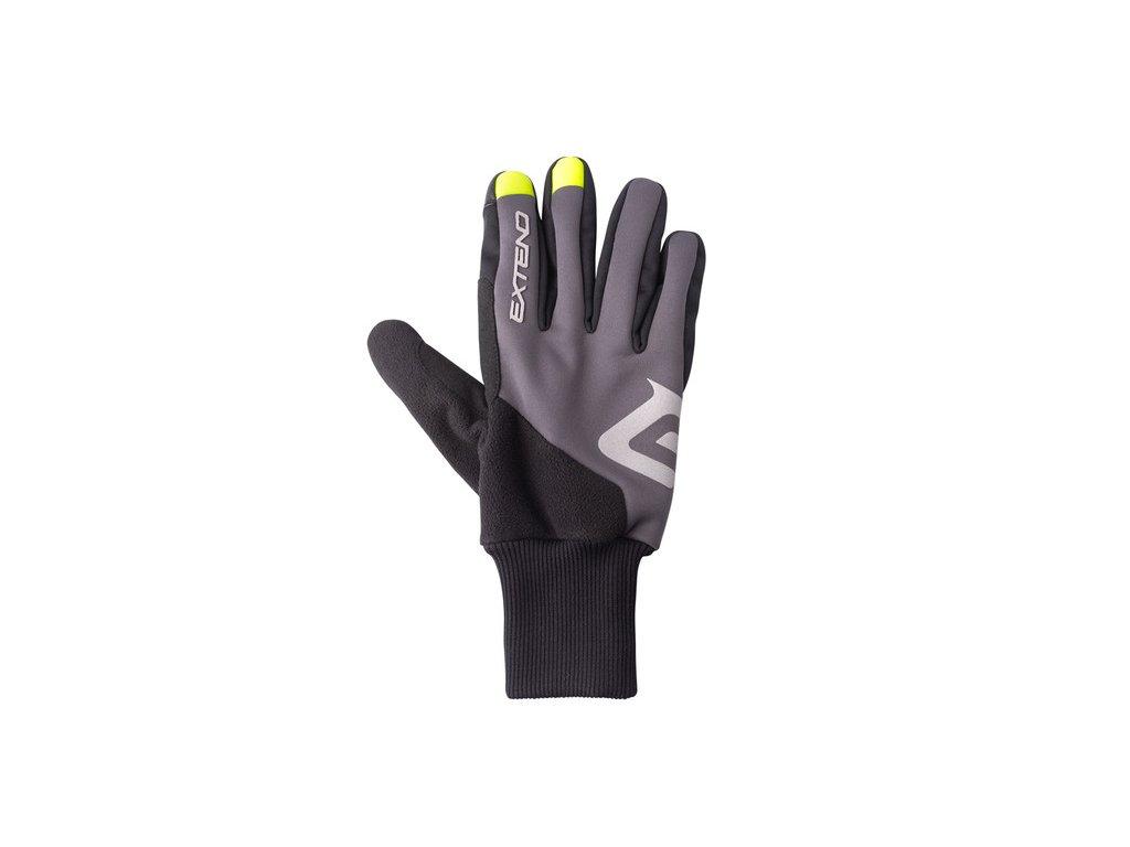 Rukavice zimné Extend SCULPIN, black-grey XXL