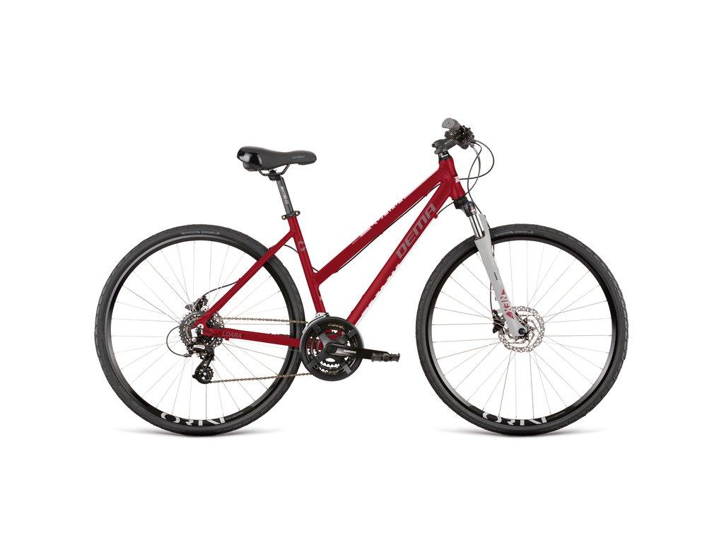 "Bicykel Dema LOARA 5 blood red-white 18"""
