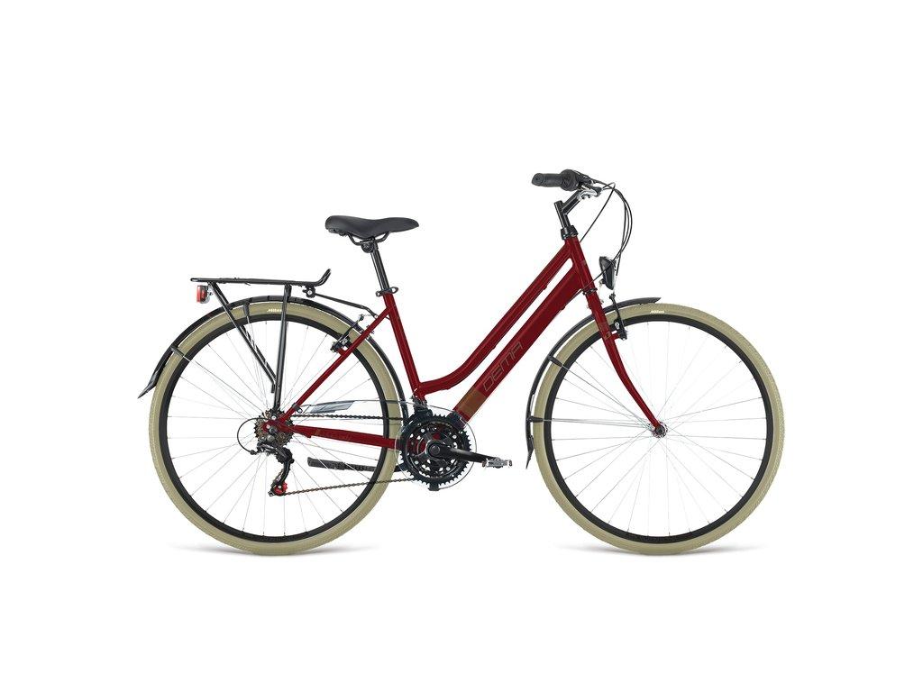 "Bicykel Dema LUGO LADY bordó 18"""