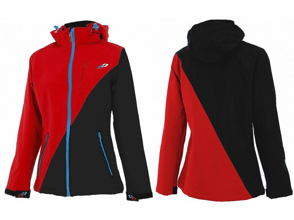 Bunda softshellová, dámska red/black