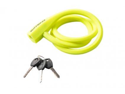 Zámok na bicykel  Extend TICON 12*1000mm, lime green