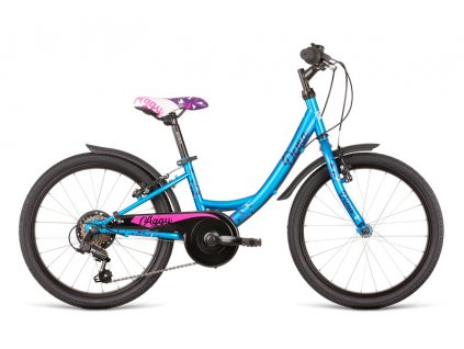 Bicykel Dema AGGY 6sp turquoise-violet