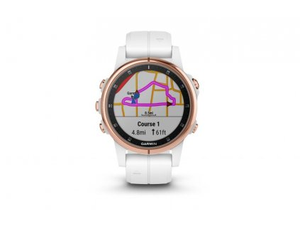 Garmin fénix 5S Plus Sapphire Rose Gold + White Band