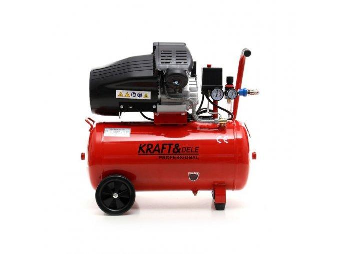 Kompresor 50L dvoupístový - olejový Kraft&dele