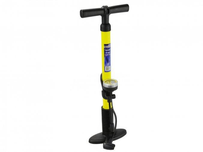 Ruční sloupová pumpa s manometrem PROFI 38x540mm Yellow