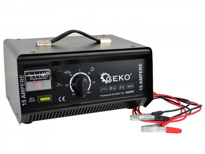 Nabíječka autobatérií 6/12 / 24V 15A G80006