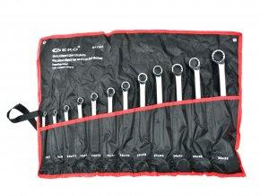 Očkové klíče 6-32 mm 12ks v textilním obalu GEKO