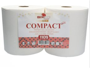 Papierové utierky v rolke 2ks COMPACT PRO (5)
