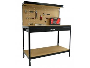 Pracovný stôl ponk do dielne 120x60x150cm (1)