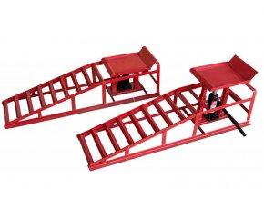 Nájazdové rampy 114cm 4T s hydraulickými zdvihákmi 2ks