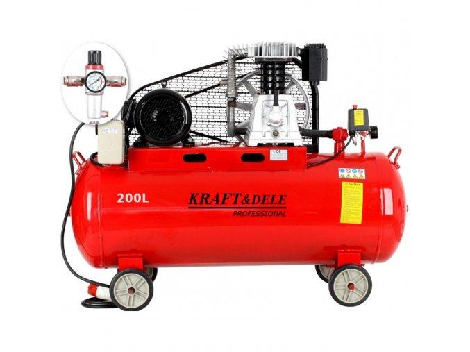 Kompresor 200l olejový 2-piestový 400V KD1475