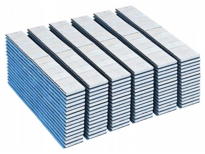 Samolepiacie závažie silver 60g pásik (5g) 100ks
