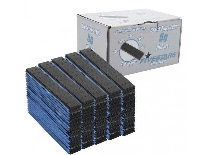 Samolepiacie závažie black 60g pásik (5g) 100ks
