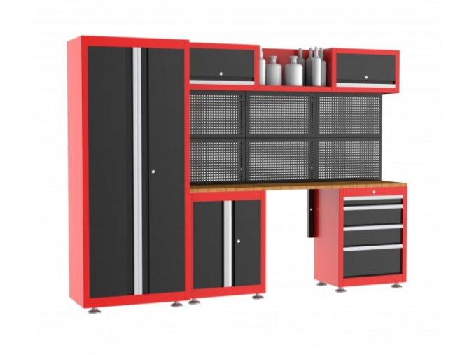 Pracovný stôl ponk do dielne 269,2cm RED (2)