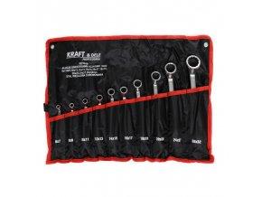 Očkové kľúče 10ks v textilnom obale KD10929