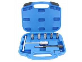 Frézy na obnovu sediel vstrekovačov diesel 8 kusov v kufríku BLUE 1
