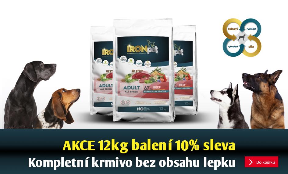 AKCE - sleva 10% na velká balení českých granulí pro psy Ironpet