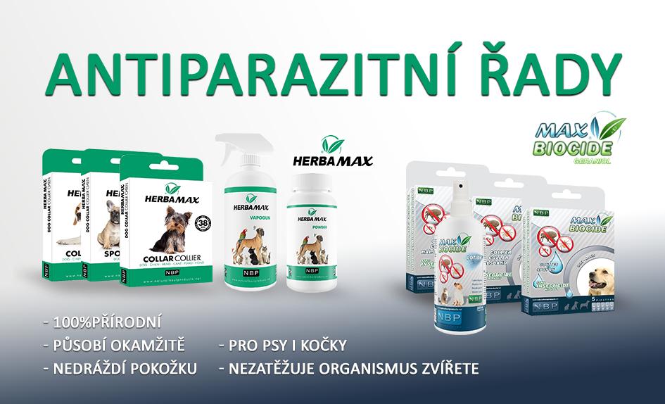 Antiparazitika pro psy, kočky, hlodavce, přírodní antiparazitika